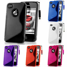 Protective Case for Apple iPhone 4/4S/0.1oz TPU Silicone Case Cover Shell