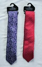 The Savile Row Mens Purple Red Pure Silk Tie One Size New