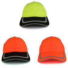 Reflective Stripes High Enhanced Visibility Unstructured Safety Cap - FREE SHIP