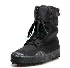 Mens Hiking Canvas Hiking Lace Up Shoes Outdoor Boots Military Combat Sneakers