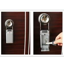 Wall Mounted Safe Key Box Organizer Password Lock Case for Home Car Outdoor