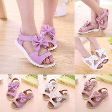 Fashion Kids Children Toddler Baby Girl Beach Sandals Bow Leather Pricness Shoes