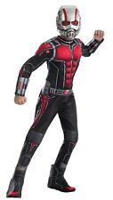 Ant Man Childs Costume Large Age 8-10 Halloween Jumpsuit Boot Tops Belt Mask Fun