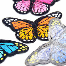 Embroidered Butterfly Applique Iron On Sew On Patch Clothing Peony