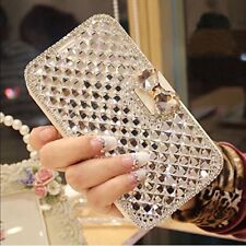 Galaxy S8 Plus Wallet Case 3D Bling Crystal Rhinestone Leather Flip Stand Cover