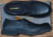 """CHINOOK """"MANAGER"""" MENS BLACK LEATHER ULTRA GRIP SLIP RESISTANT SHOES LIST $60"""