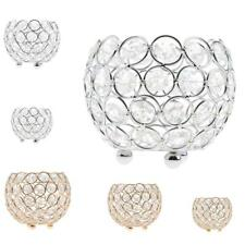 Bowl Shaped Crystal Effect Tea Light Candle Holder Ornament Wedding Decor 3 Size