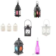 Hollow Flower Candle Holder Tealight Candlestick Metal Hanging Lantern - PICK