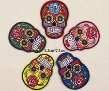 Badge Bag Clothes Fabric Applique Craft Skull Embroidered Sew On Iron On Patches
