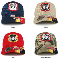 Route 66 Classic Car Embroidered Structured Baseball Cap - FREE SHIPPING