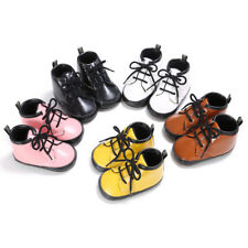 Infant Toddler Baby Boy Girl Leather Soft Sole Crib Shoes Lace Up Sneaker 0-12M