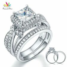 1.5 Ct Heart Lab Made Diamond Sterling 925 Silver Ring Bridal Wedding Engagement