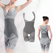 Lady Underwear Women Natural Bamboo Charcoal Body Shaper Slimming Suit Bodysuits