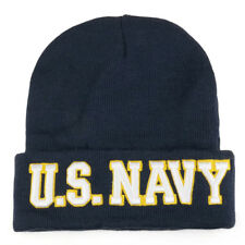 US Navy 3D Embroidered Military Long Cuff Winter Beanie - Free Shipping