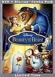 Disney Beauty and the Beast Blu-ray/DVD, 2010, 3-Disc Set Diamond Edition Sealed