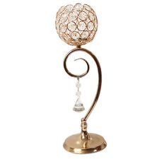 35cm Crystal Globe Pillar Tea Light Holder Candle Stand Wedding Xmas Gold/Silver
