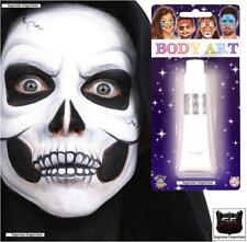 FACE CREAM WHITE MAKE UP HALLOWEEN WITCH VAMPIRE ZOMBIE FANCY DRESS BODY PAINT