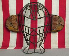 Vintage Antique Baseball Catchers Face Mask Side Ear Guards Late 19th Century