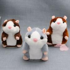 Adorable Plush Interactive Toy Talking Hamster Repeats What You Say for Kid Girl