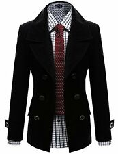 Mens Coat W2C 31 Doublju Wool Double Jacket BLACK (US-S)- Choose SZ/Color.