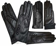 Leather gloves. Size S,M,XL. Woman's Leather Black winter Gloves. Dress Gloves