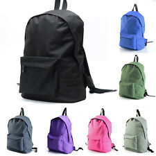 Big Front Pocket Canvas Backpacks Bag Travel Casual School Laptop Notebook