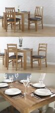 Solid Oak Dining Room Furniture Set - Solid Oak Chairs Faux Leather Seat Pads