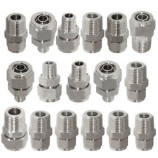Stainless Steel Quick Coupler Air Hose Connector Fittings Tools Male Thread