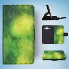 GREEN WATERCOLOR 27 FLIP WALLET CASE COVER FOR SAMSUNG GALAXY J3(2016)