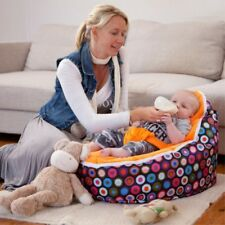 Baby Bean Bag Kids New Sofa Chair Cover Soft Snuggle Bed With Harness Portable