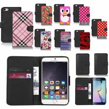 black pu leather wallet case cover for popular mobiles design ref a91