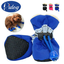 Waterproof Pet Dog Reflective Boots Protective Rubber Rain Wear Shoes Adjustable
