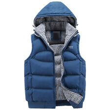 New Mens Jacket Sleeveless veste homme Winter Fashion Casual Coats Male Hooded C