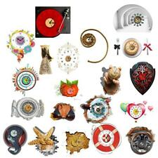 Creative 3D Wall Clock Removable Decals Art Sticker Home Wall Decor 20Style