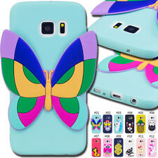 For Samsung Galaxy S6 Rubber TPU Skin 3D Silicone Gel Soft Cover Shockproof Case