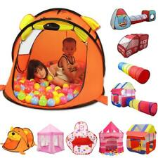 Folding Kids Indoor Outdoor Play Tent/Playhouse/Tunnel/Ball Pit Play Hut Toys