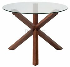 Torino Range Solid Oak Glass Coffee Dining Table Lamp End Living room Furniture