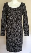 NWT Jessica Simpson Maternity Dress Gray & Black Career Size M/L *Made in USA*