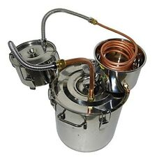 Moonshine Still 5 Gal 30L Water Alcohol Wine Distiller Boiler Stainless Copper