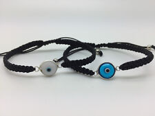 Blue White Evil Eye Mati Friendship Cord Black Macrame Bracelet Men Women Girl