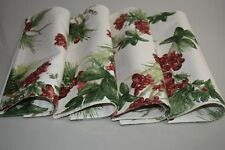 NEW Williams Sonoma Set of 4 Botanical Berry Place Mats Christmas Red 16 Availab