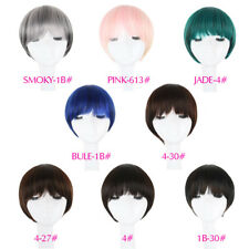 Fashion Short Bob Wigs with Full Bangs Straight Synthetic Wigs for Women Cosplay