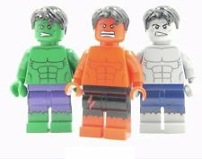 Red, Green or Grey Hulk Custom brik minifigure w genuine brik parts Bruce