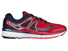 NEW MENS SAUCONY TRIUMPH ISO 3 RUNNING SHOES RED / NAVY
