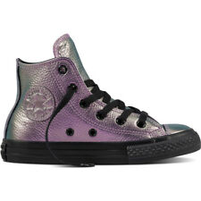 Converse Chuck Taylor All Star Hi Violet Leather Junior Trainers