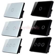 One Way Smart Glass Touch Panel Wall Switch Home Lamp Light Switch- 1/2/3 Gang