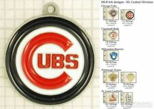 MLB team logo decorative fobs (NL Central), various designs & keychain options