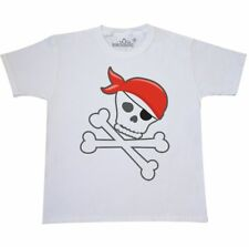 Inktastic Pirate Skull And Crossbones Youth T-Shirt Pirates Red Bandana Ship Tee