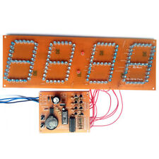 DIY Kit PCB Board LED Digital Electronic Clock Assembly Kit 144 LED Lights
