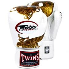 Twins Special White-Gold Dragon Boxing Gloves Sparring Training FBGV-23